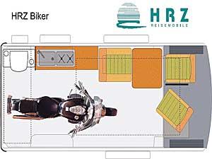 Grundriss: Reisemobil HRZ Biker