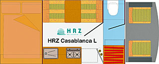 Grundriss: Reisemobil HRZ Casablanca L