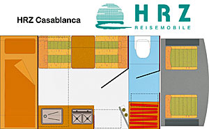 Grundriss: Reisemobil HRZ Casablanca