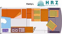 Grundriss: Reisemobil HRZ Family L