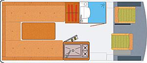 Grundriss: Reisemobil HRZ Joy