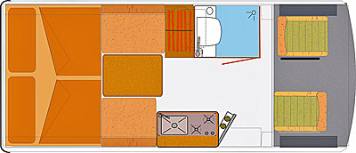 Grundriss: Reisemobil HRZ Mambo 01