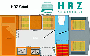 Grundriss: Reisemobil HRZ Safari