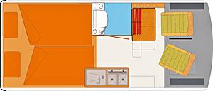 Grundriss: HRZ Tango Doppelbett