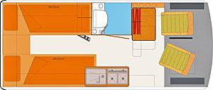 Grundriss: HRZ Tango Einzelbetten