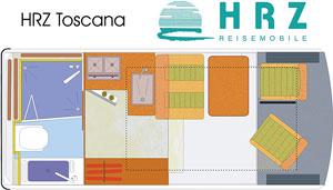 Grundriss: Reisemobil HRZ Toscana