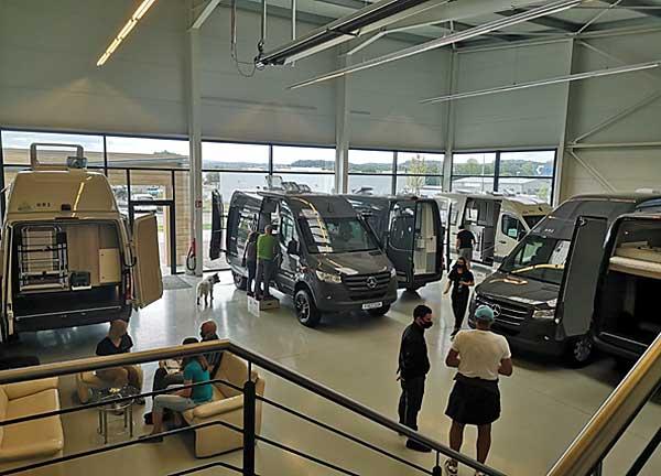 HRZ Reisemobile Hausmesse 2020 - Ausstellungsraum