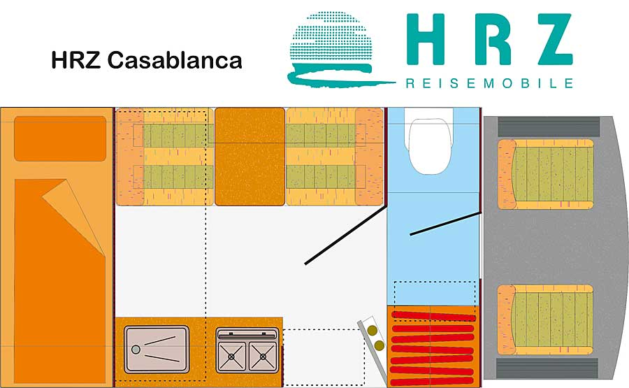 HRZ Reisemobil - Casablanca 2019 - Grundriss