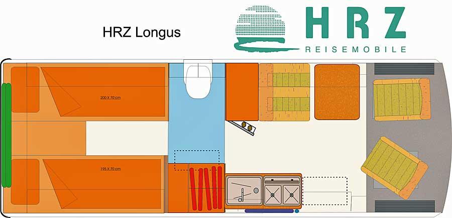 HRZ Reisemobil - Longus 2018 - Grundriss