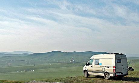 Reisemobil HRZ - Chinggis Khaan-Monument, Terelj