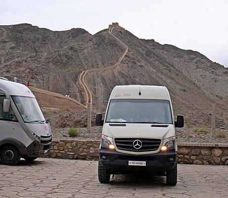 Reisemobil HRZ - Nähe Jiayuguan
