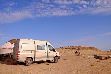 Reisemobil HRZ - Wüstencamp Ayaz-Qala